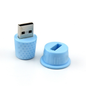 2GB USB thumbdrive Blue thimble